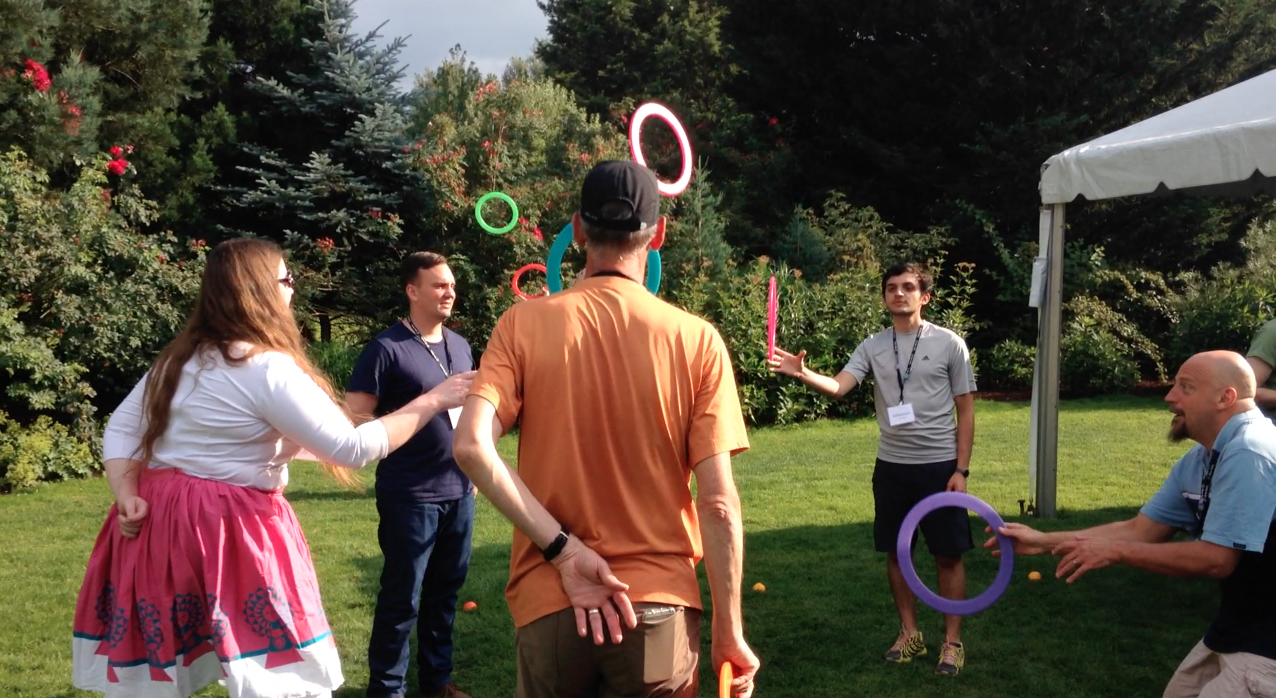 juggling team building workshop w New Relic